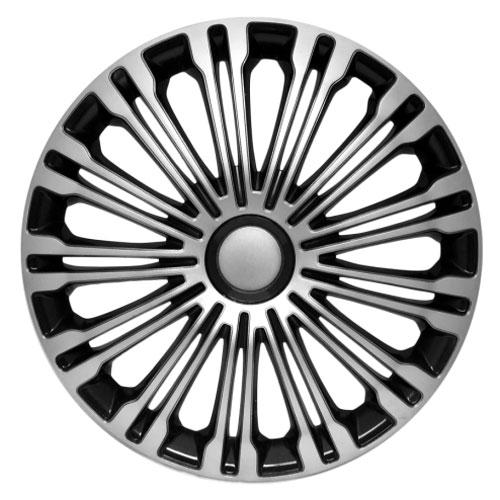 4 RACING Volante Silver&Black КОЛПАКИ ДЛЯ КОЛЕС (Комплект 4 шт.)