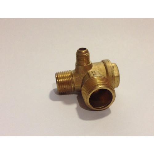 """Обратный клапан для компрессора малый медный 1/2""""-3/8"""" ( правый ) PAtools 1d"""