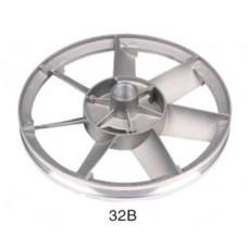 Шкив для компрессора алюминиевый, диаметр 26,5 см  посад. место  20,5мм 32B