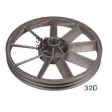 Шкив для компрессора чугун на 2 ремня, диаметр 36 см  посад. место  33мм - PAtools 32D
