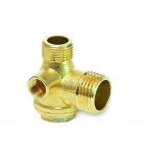 Обратный клапан для компрессора 1/2-3/8-1/8 внутреняя резьба - PAtools КомпКл2