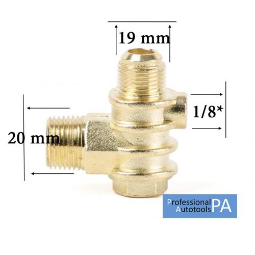 Обратный клапан большой 1/2 (20мм -19мм) PAtools КомпКл3 (4406)