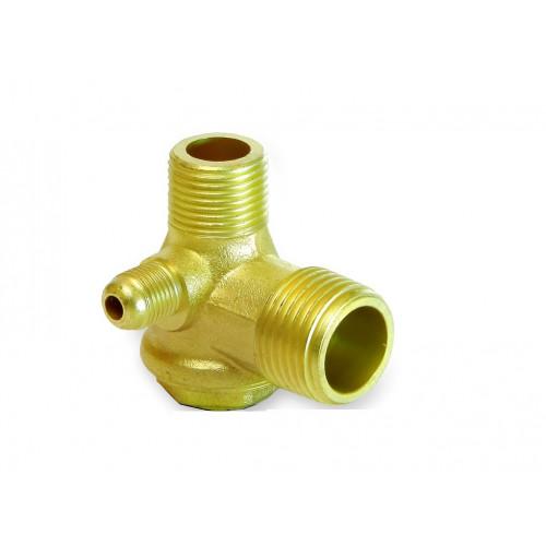 Обратный клапан для компрессора медный 1/2-3/8-1/8 PAtools КомпКл1мед (4583)