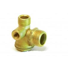 Обратный клапан для компрессора 1/2-3/8-1/8 внутреняя резьба, медный - PAtools КомпКл2М