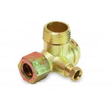 Обратный клапан малый на компрессор с гайкой 1/2-3/8 PAtools КомпКл4