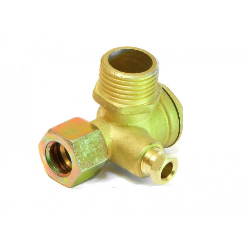 Обратный клапан малый на компрессор с гайкой, медный 1/2-3/8 PAtools КомпКл4М (4586)