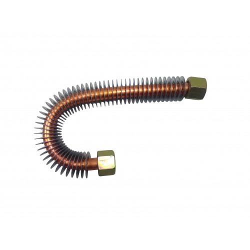 Трубка для компрессора 3/8 изогнутая с охлаждением L= 215 мм. Гайка 3/8*3/8 PAtools КомпТрубка8 (7853)