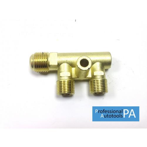Коллектор компрессора 1/4*3/8*3/8*19мм PAtools КомпКоллектор (7857)