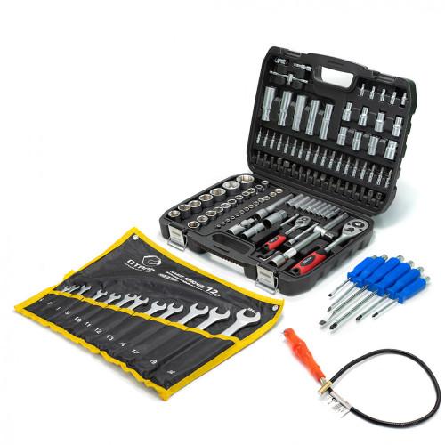 Набор инструментов 108 ед. Profline 61085 + Набор ударных отверток Profline 6 ед. + Набор ключей 12 ед. + ПОДАРОК