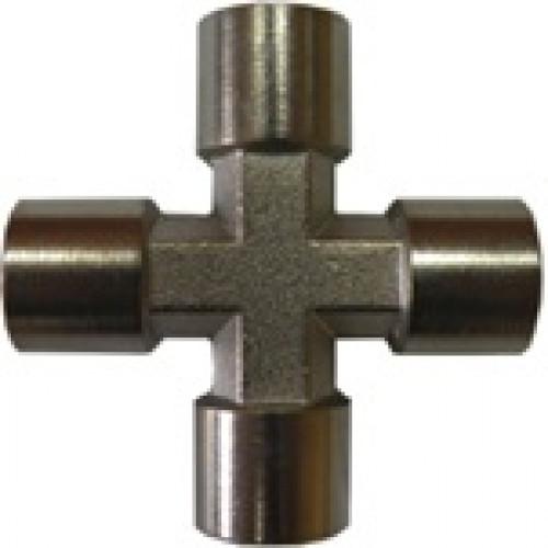 Крестовое соединение с внутренней резьбой 1/4 AIRKRAFT S1283-2