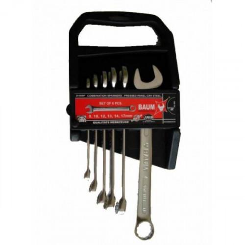 Набор ключей рожково-накидных в пластиковом держателе 6 пр. (8-17 мм) Baum 30-06MP