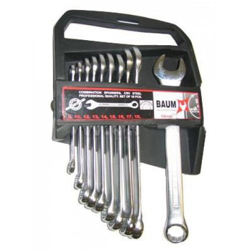 Набор ключей рожково-накидных в пластиковом держателе 10 пр. (8-19 мм) Baum 30-10MP