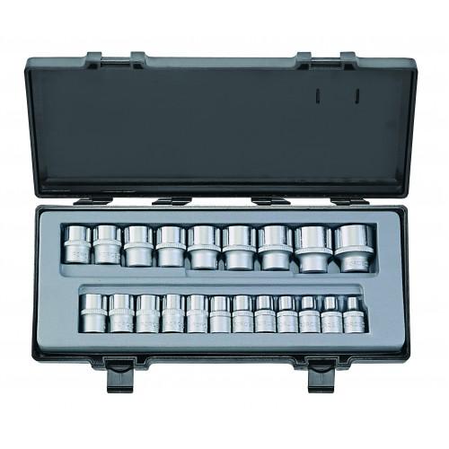 Набор головок 6-гранный 1/2 21 предмет (8-32 мм) Force 4212