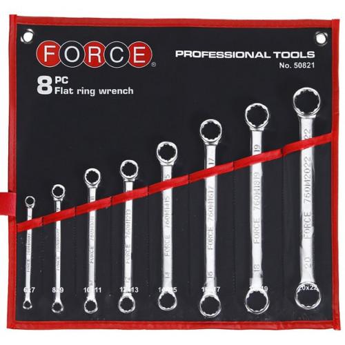 Набор ключей накидных 8 пр. (6-22 мм) Force 50821