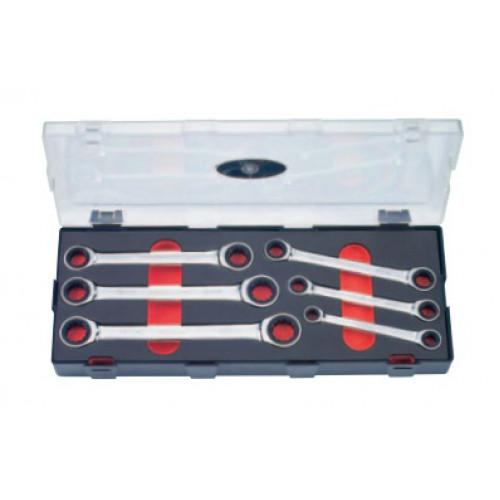 Набор ключей накидных трещоточных 6 пр. Force K50625