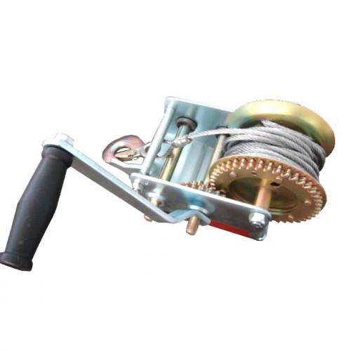 Лебедка рычажная барабанная стальной трос 900 кг GT1455