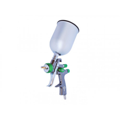 LVLP GREEN NEW Профессиональный краскораспылитель 1,3 мм, верхний металлический бачок 600 мл Intertool PT-0131