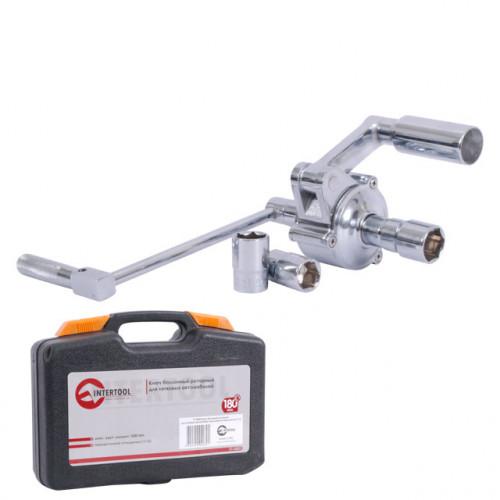 Ключ баллонный роторный для легковых автомобилей 180 мм, передаточное отношение 1:16, макc. крут. момент 1000 Nm Intertool XT-0003