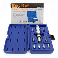 Ударная отвёртка с насaдками+головки (4,5,6,7мм) King Roy 7965
