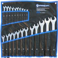 Набор ключей комбинированных 22 ед. (6-19,10и13 по 2шт.,21,22,24,27,30,32) в сумке   Стандарт NKK22ST-S