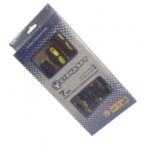 Набор отверток 7 ед. Стандарт (SL3x75, SL4x100, SL5x150, SL6x150, PH0x75, PH1x80, PH2x100) SDS07