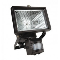 Прожектор галогеновый 150 Вт  с датчиком движения, черный 94W022