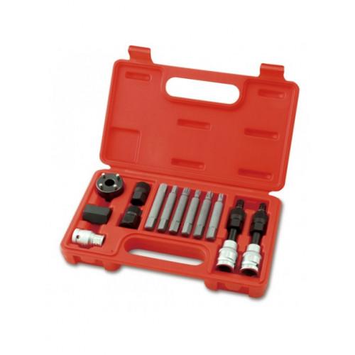 Набор для снятия шкивов генераторов 13 единиц  Toptul JGAI1301