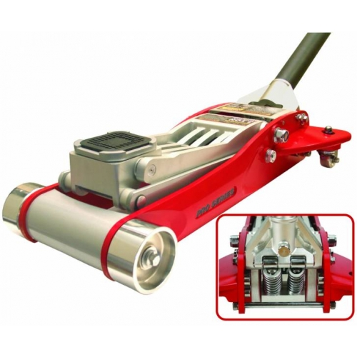 Домкрат подкатной алюминиевый 3,0т HEAVY DUTY низкопрофильный с двойной помпой 100-465 мм Torin T830002L