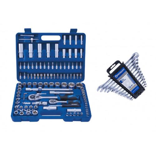 Набор инструмента 108 единиц Стандарт ST-0108-6 + Набор ключей комбинированных 12 единиц Стандарт NKK12ST